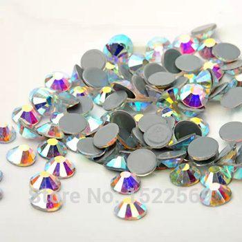#2058HF SS20 AB Crystals Stones Iron FlatBack Hot Fix Strass Crystal Hotfix Rhinestones for Clothes