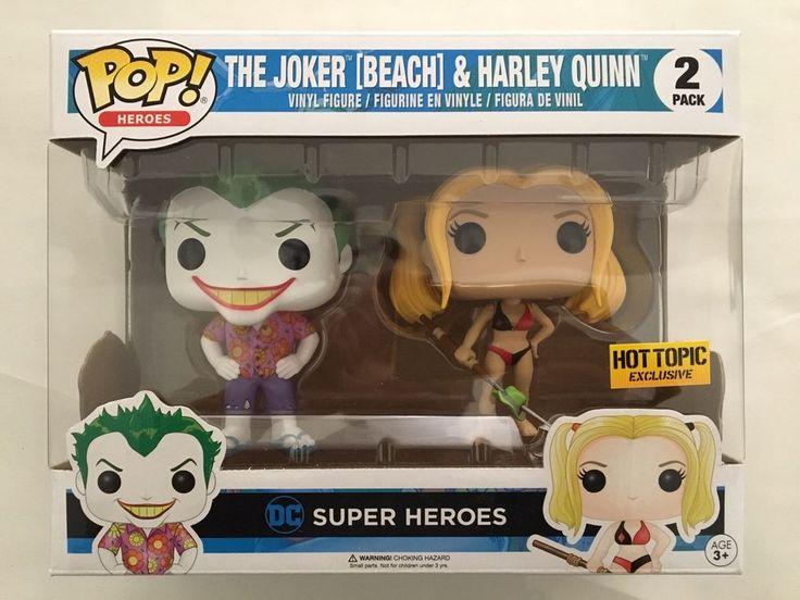 Funko POP! DC Heroes 2-Pack JOKER BEACH & HARLEY QUINN Hot Topic Exclusive NEW | eBay