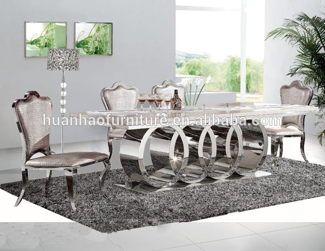 Source Dh 1405 New Design 10 Seater Marble Top Stainless Steel Leg Dining Table Set On M Alibaba Com Dining Table Dining Table Legs Dining Table Setting