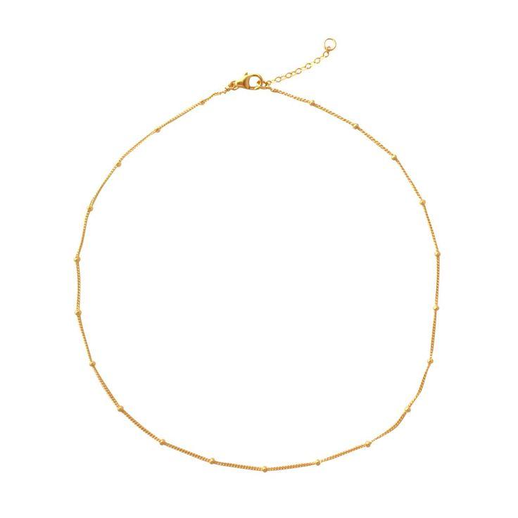 Gold Satellite choker necklace