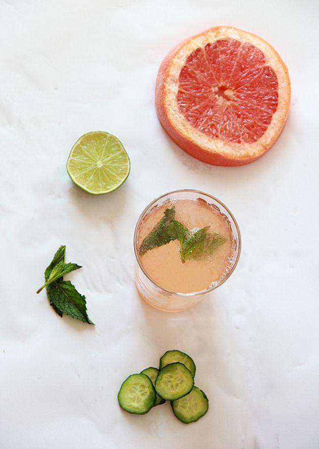 Pink cocktail- Cucumber Greyhound