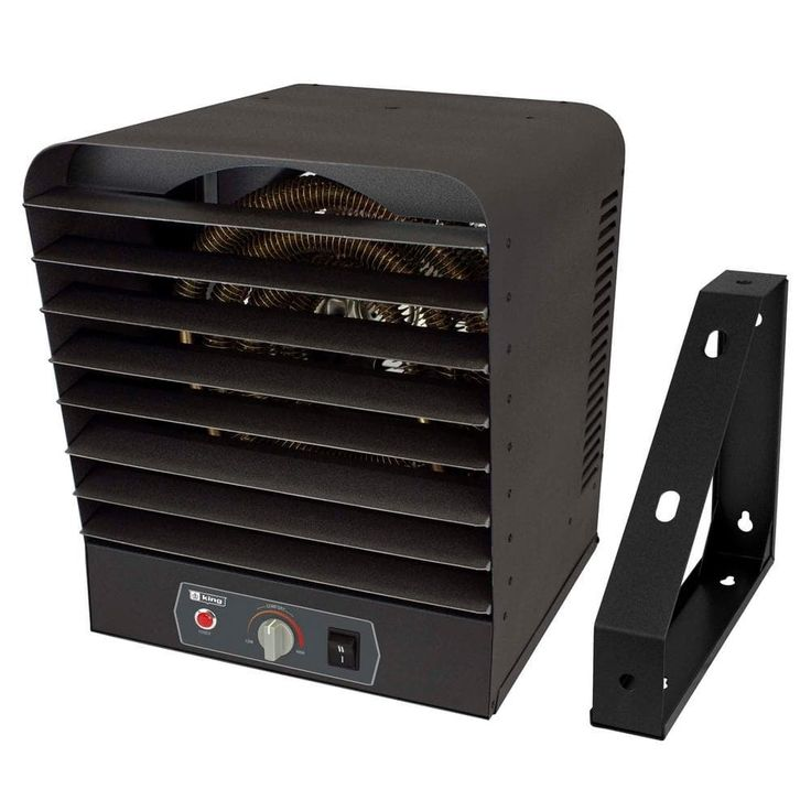 King Electric GH2405TB 7,500 Watt Garage Heater with Bracket and Thermostat - gray