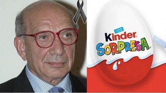 Muere William Salice, creador del huevo Kinder Sorpresa - http://www.esnoticiaveracruz.com/muere-william-salice-creador-del-huevo-kinder-sorpresa/