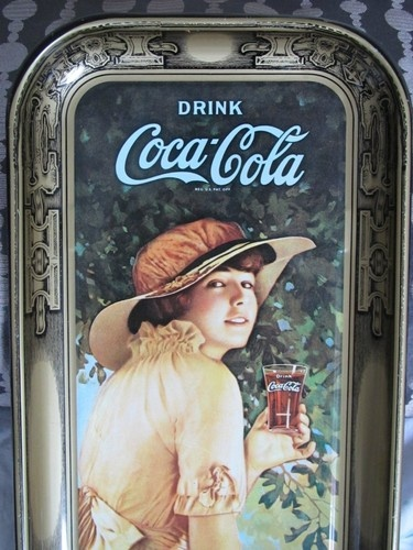 Two Vintage Coca-Cola Metal Serving Trays |