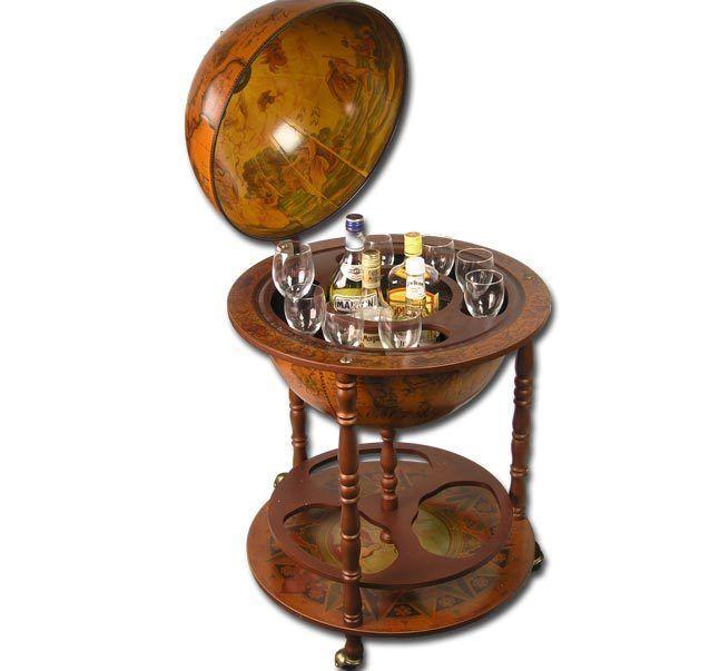 Große Globus BAR Hausbar Globusbar Wein Regal Minibar 110cm x 55,5cm #5350