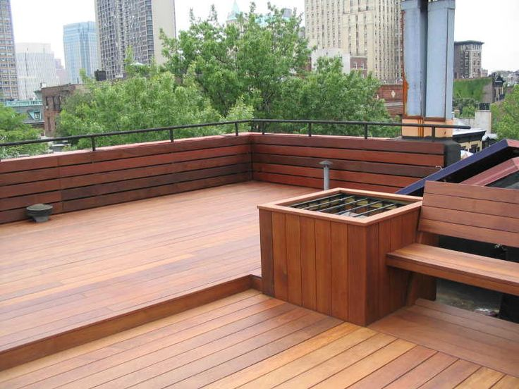 neat wood, built in bench, also interesting idea to have a sort of half wall somewhere?