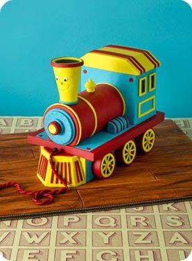 Toy Train Cake!