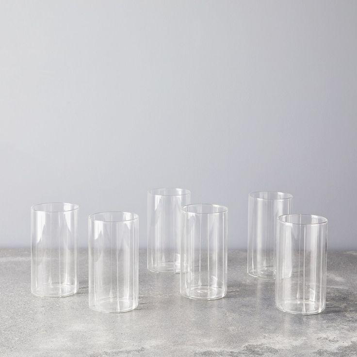 Borosil vision classic glass tumblers set of 6 4 sizes