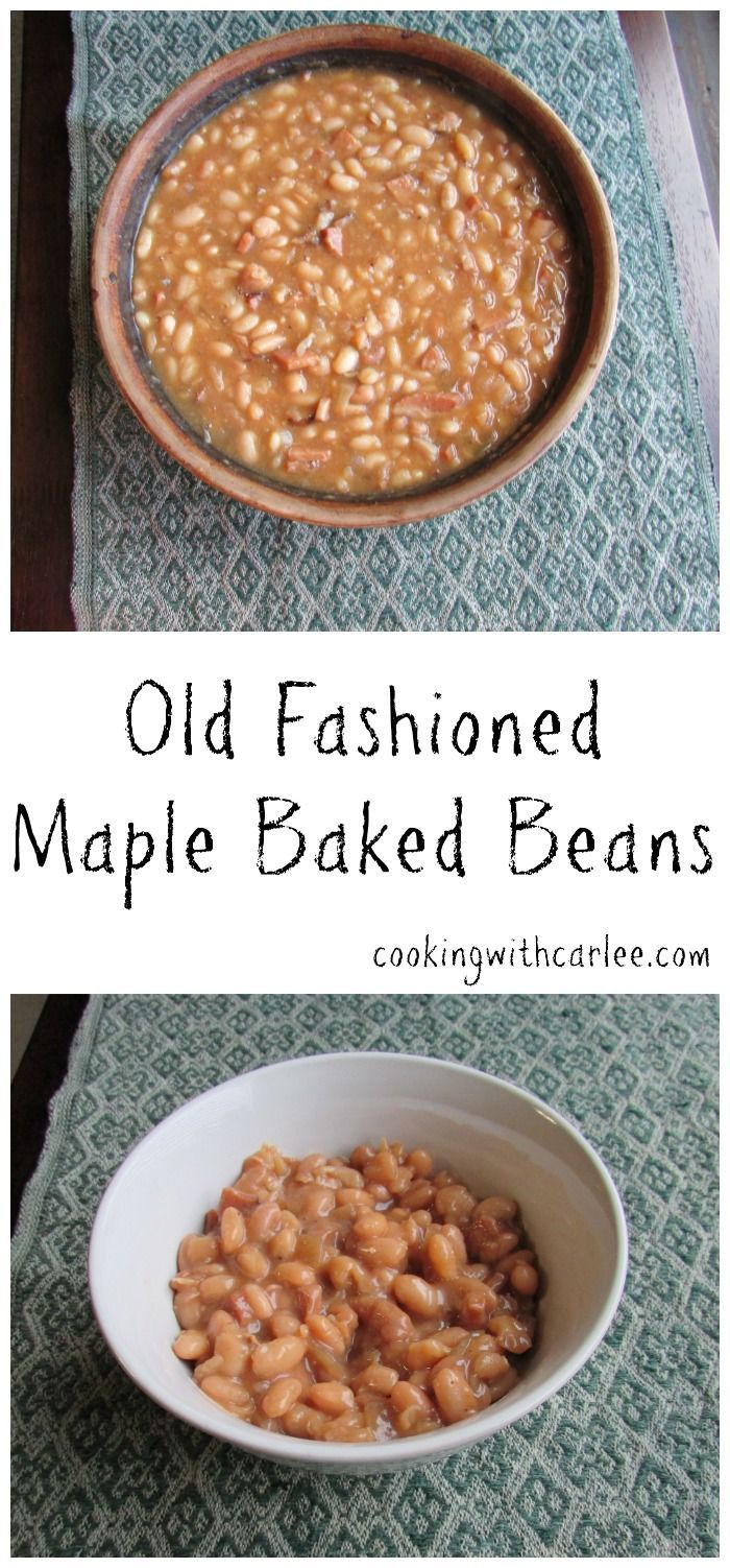 These Old Fashioned Maple Baked Beans start with dried beans and were cooked in my Great-Grandmother's bean pot.  So they took some time, but they were totally worth it!  I loved making such a different and delicious version of baked beans.