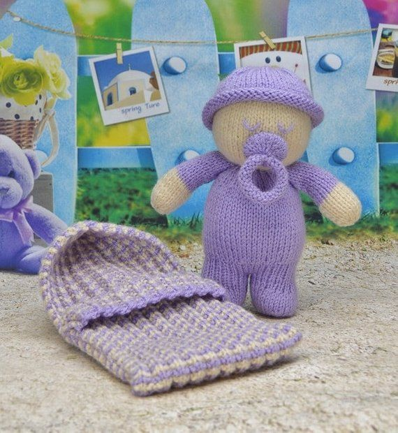 BABY NAPS DOLLS CUTE BABIES TOY KNITTING PATTERN INSTRUCTIONS TO MAKE YOURSELF