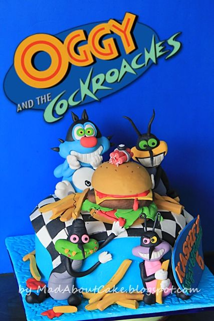 oggy and the cockroaches cake - Cerca con Google