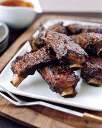 Sticky Barbecued Beef Ribs Recipe with Sauce - I love beef ribs, makes me feel like I'm Fred Flintstone or Henry VIII  :+)  #BBQ #Barbeque  #Grill