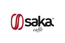 Logo Saka, azienda specializzata nella produzione di miscele di caffè in grani.