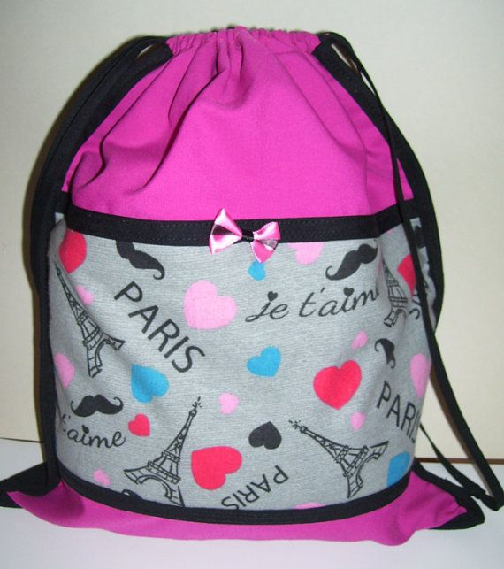 LOVELY CARRYING BAGS  paris city design  hot pink