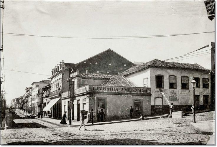 Rua dos Andradas esq. Gen. Camara em 1901.