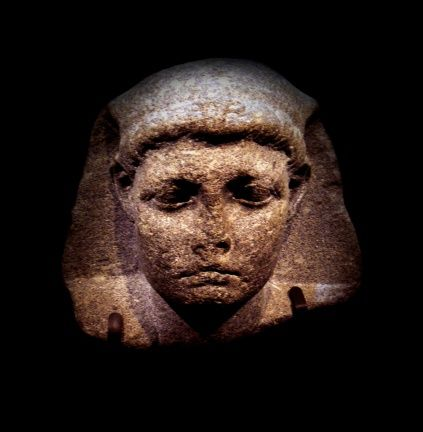 A colossal head of Caesarion (Little Caesar), the son of Cleopatra and Julius Caesar, from the 1st century BC. The head went on show in Los Angeles in 2012.