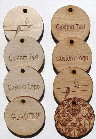 50 - 2 x 2 Custom Wood Tags - Custom Engraved Tags - Wood Gift TagsGreat for beautiful wrapping. meant to be re-purposed!
