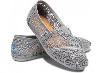 Toms Womens Crochet shoes Grey