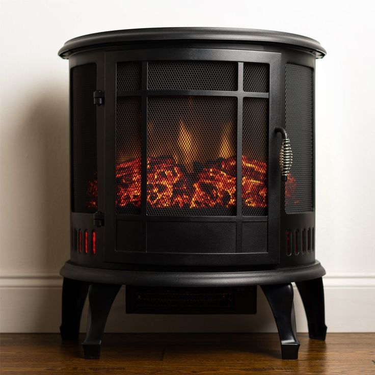 Amazon.com - Moda Flame Richmond 22 Inch Curved Electric Fireplace Free Standing Portable Space Heater Stove -