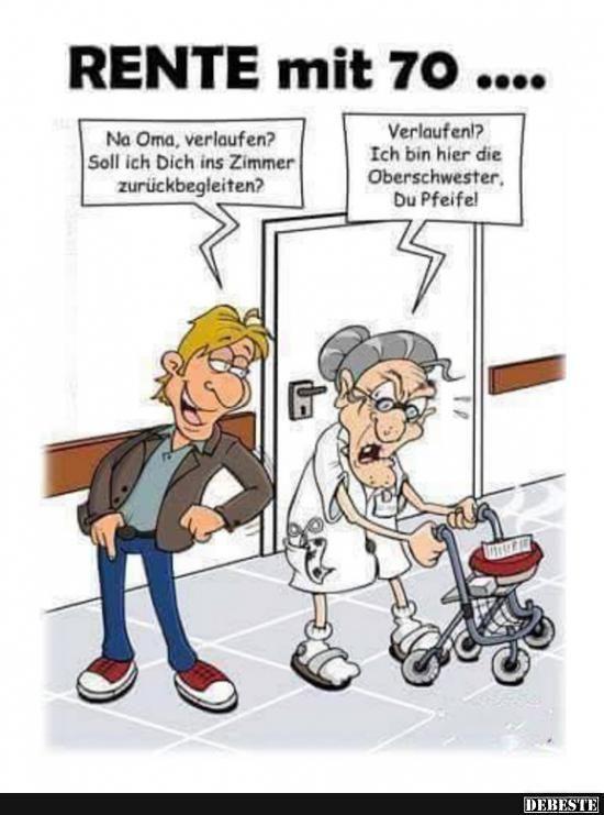 Na Oma, verlaufen? | Lustige Bilder, Sprüche, Witze, echt lustig