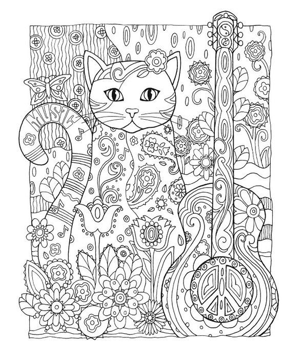 Creative Colouring Patterns Of Nature : Bol creative haven cats coloring book