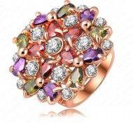 Inel cu cristale multicolorate, placat cu aur http://www.bijuteriifrumoase.ro/cumpara/inel-cu-cristale-multicolorate-placat-cu-aur-302