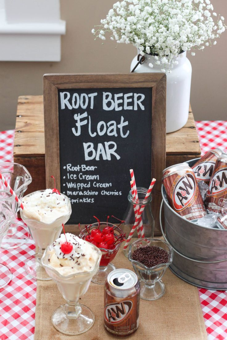Root Beet Float Bar Ice Cream Party Idea. Perfect Summer Treat! #ad