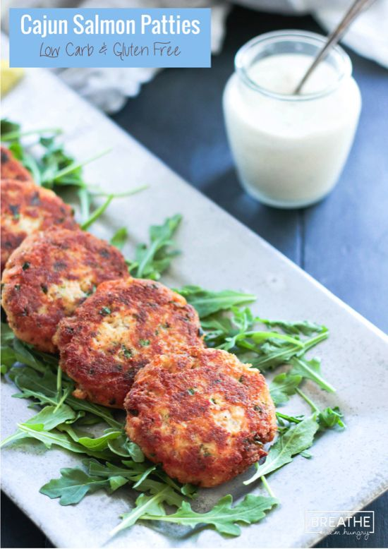 These low carb Cajun Salmon Patties are easy, healthy and fast - perfect for those busy weeknight dinners!