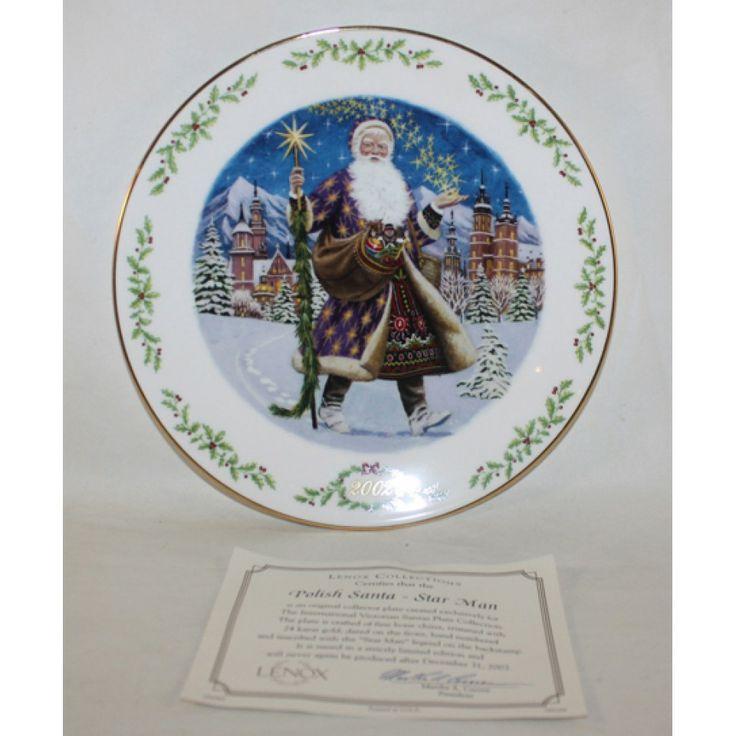 Lenox international victorian santa plate coa polish