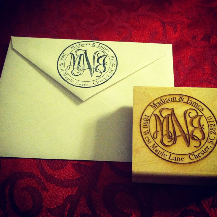 Monogram return address stamp. $25.00, via Etsy. @Michelle Flynn Flynn Flynn Flynn Flynn Flynn Holmes I need this!