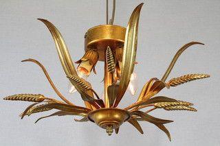 Italiaanse plafonniere 26175 bij Van der Lans Antiek. Meer antieke lampen op www.lansantiek.com