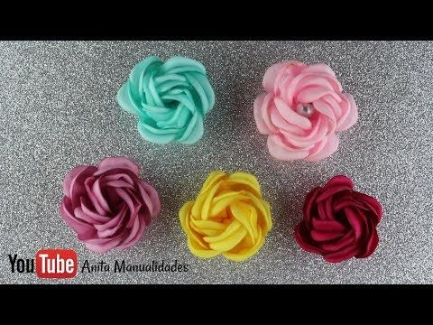 Flor Mini Pelota | Anita Manualidades - YouTube