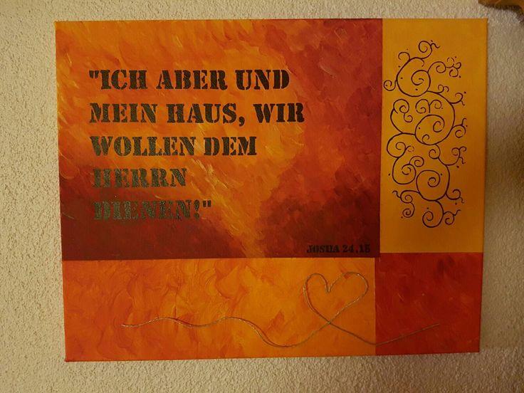 Einzugsgeschenk Acryl auf Leinwand /groß / 50 x 40