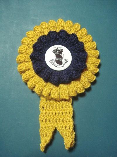 ニットでロゼット crochet rosette pattern