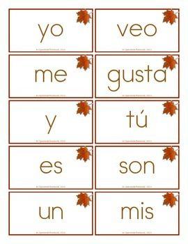 SPANISH DUAL LANGUAGE KINDERGARTEN SIGHT WORD FREEBIE! - TeachersPayTeachers.com