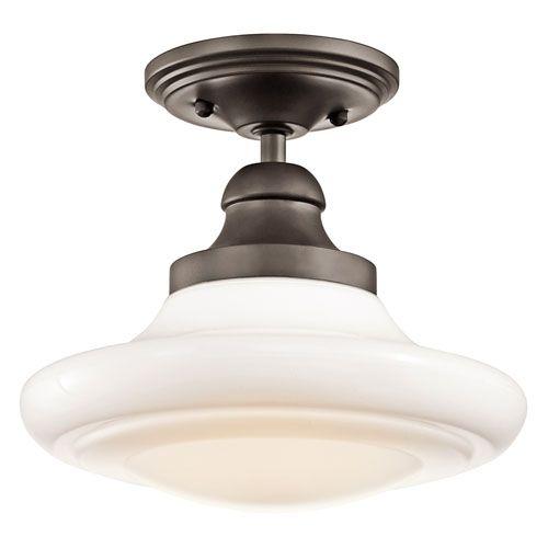 """Keller Olde Bronze Semi Flush Light Kichler Semi Flush Flush & Semi Flush Lighting Ceiling $142.20; 10""""W x 7.25""""H"""