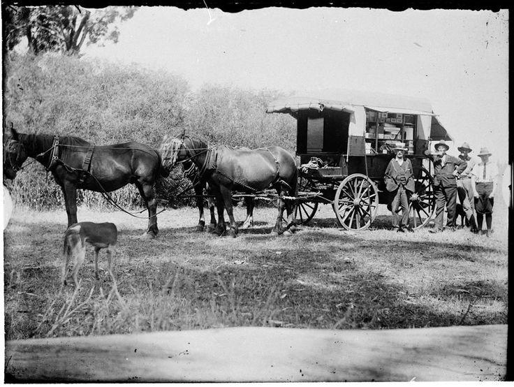 A district hawker with his van. Nareen, Victoria, 1924