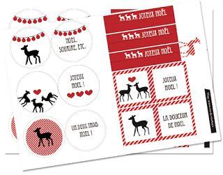 Petits canaillous   Des étiquettes de Noël   http://www.petits-canaillous.fr