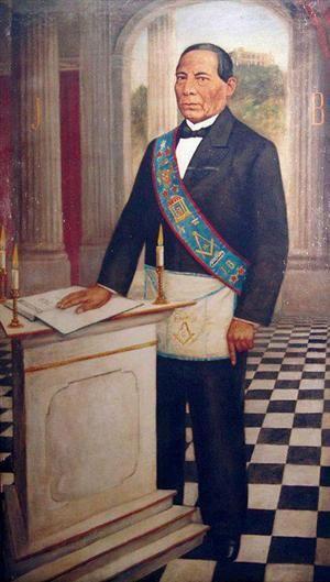 Juárez, Arquitecto de la República (portando arreos masónicos). Autor desconocido