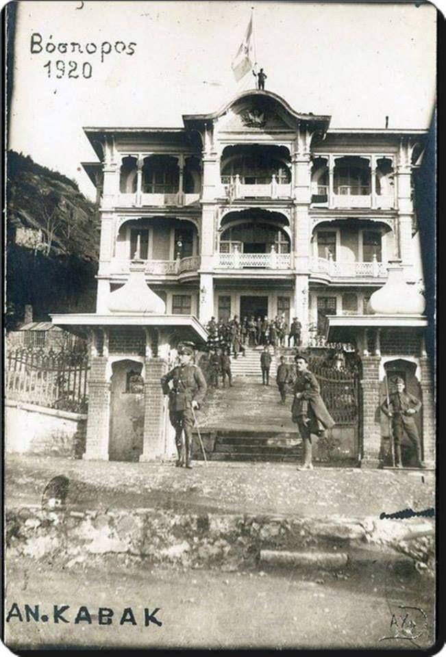 Anadolu Kavağı/Marko Paşa Köşkü-1920. Marko paşa osmanlı sarayında paşa rütbesiyle padişaha hizmet etmiş bir hekimdir