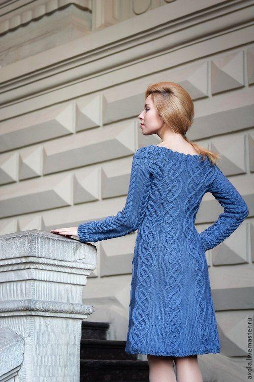 """Купить Платье """"Кельтское"""" - серый, вязаное платье, повседневное платье, платье вязаное, платье"""
