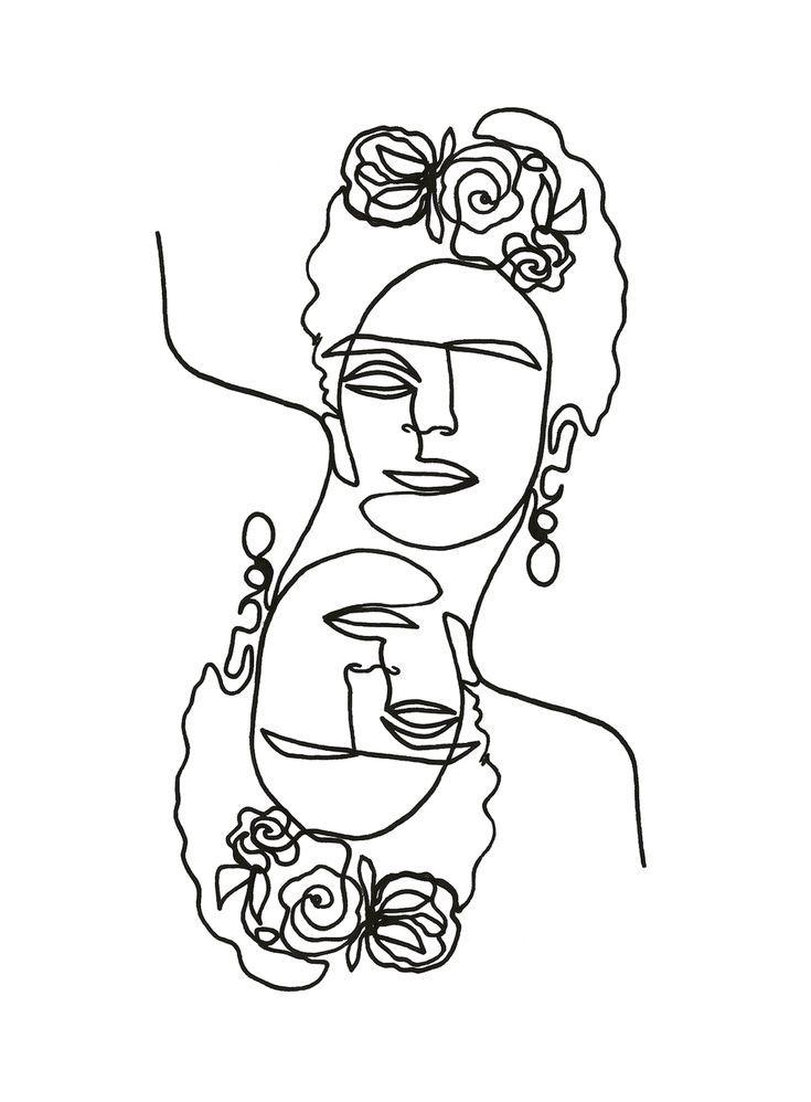 linework von Julia Hariri # linework # artwork # arty # artsy # tattoo # abstrac…  – Frida