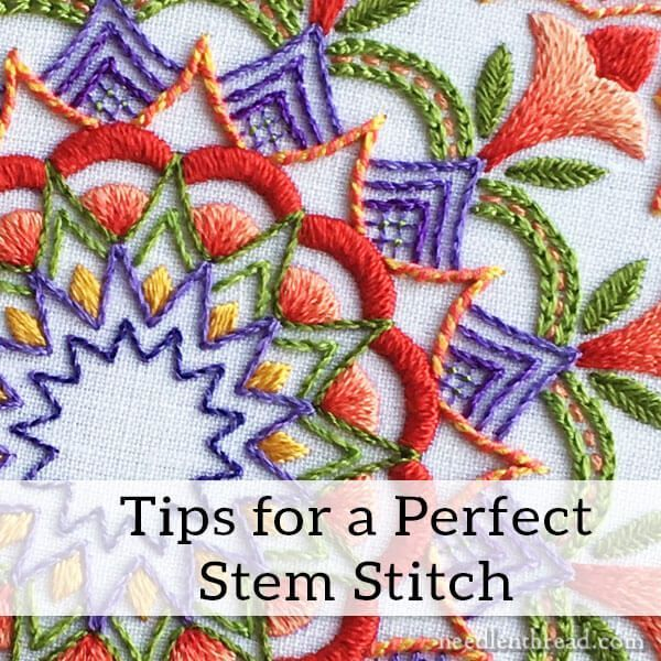 If you've been hanging out with me on Needle 'n Thread for a while, you already know my secret love for the stem stitch! But if you've just jumped on the Needle 'n Thread wagon in the last year-ish, m
