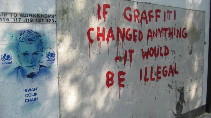 Original Banksy graffiti