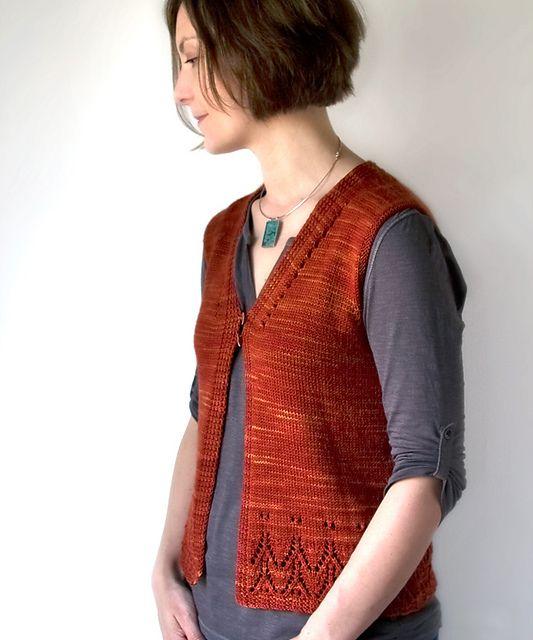 Ravelry: Galiano Vest pattern by Megan Goodacre