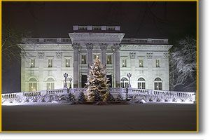 Holiday Evenings at the Newport Mansions. The glitter of gold and the sparkle of silver will dazzle you.
