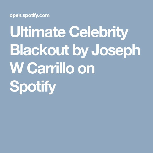 Ultimate Celebrity Blackout by Joseph W Carrillo on ...
