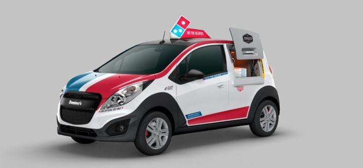 Este Chevrolet Spark de Domino´s reparte 80 pizzas a la vez - http://www.actualidadgadget.com/este-chevrolet-spark-de-dominos-reparte-80-pizzas-a-la-vez/