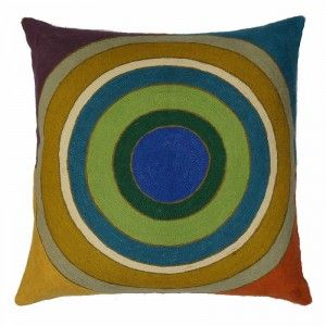 Contemporary Throw Pillows – Prairie School, Bullseye, 24″