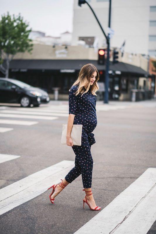 Envie de fraise ♡ Navy Grace // COMBIPANTALON - Combinaison grossesse #MaternityStyle #Maternity #Fashion #BumpStyle #Mumtobe #BabyBump